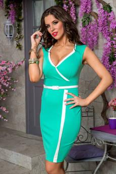 Платье бирюзового цвета Angela Ricci