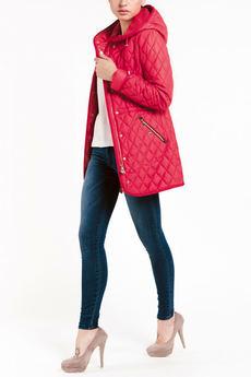 Красная куртка с капюшоном TOM FARR со скидкой