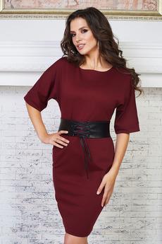 Платье с кушаком из кожзама Angela Ricci