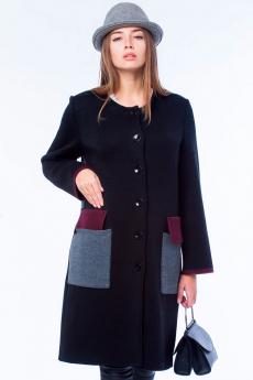 Черное вязаное пальто Kvinto со скидкой